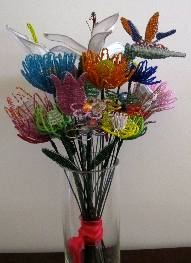 These flowers last for years - not just Valentine's Day. And have been made with more skill than my flower arranging efforts! $8-$25