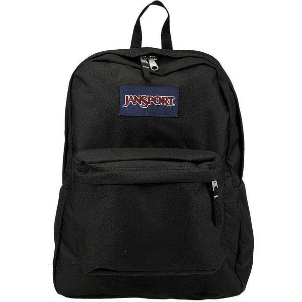 JanSport Superbreak Backpack Black Bags No Size (540 ARS) ❤ liked on Polyvore featuring bags, backpacks, black, utility backpack, handle bag, utility bag, day pack backpack and jansport daypack