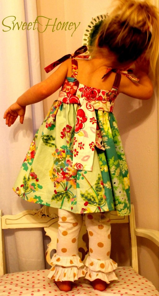 SweetHoney Girls Easter Spring Tie Strap Dress LIMITED AMOUNT. $40.00, via Etsy.