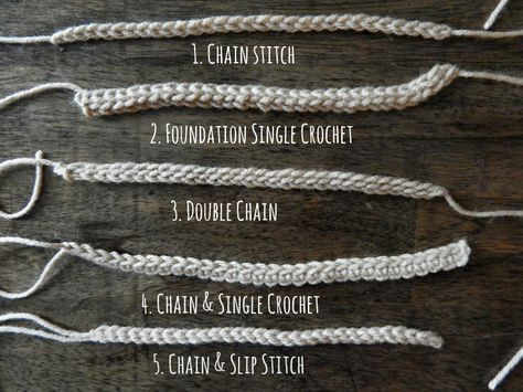 A guide to crochet cords (different types of foundation chains)