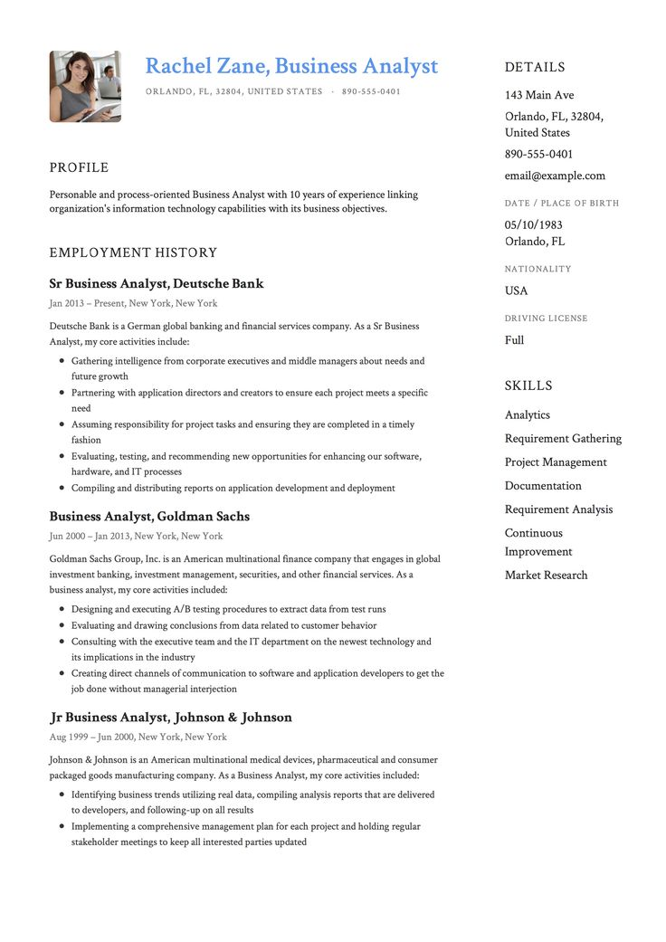 Business Analyst Resume & Guide (With images) Business