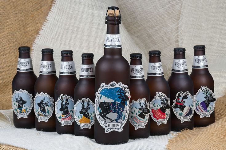 Reindeer Beer - The perfect way to make your everyday brew highly giftable at Christmastime would be to give this special eight-pack of reindeer beer to your ale-l...