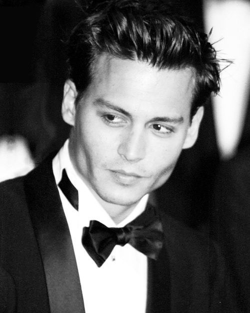 Young Johnny Depp on that suit and tie shit