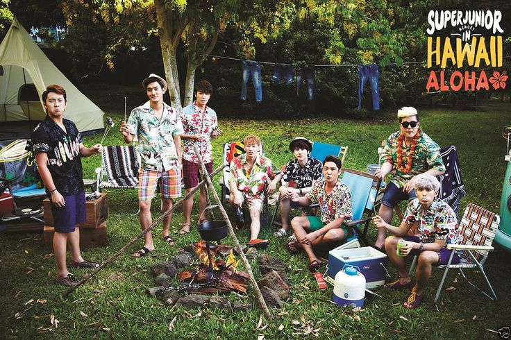 SUPER JUNIOR - Memory In Hawaii [ALOHA] 200p Photobook+DVD+Postcard Set+Poster