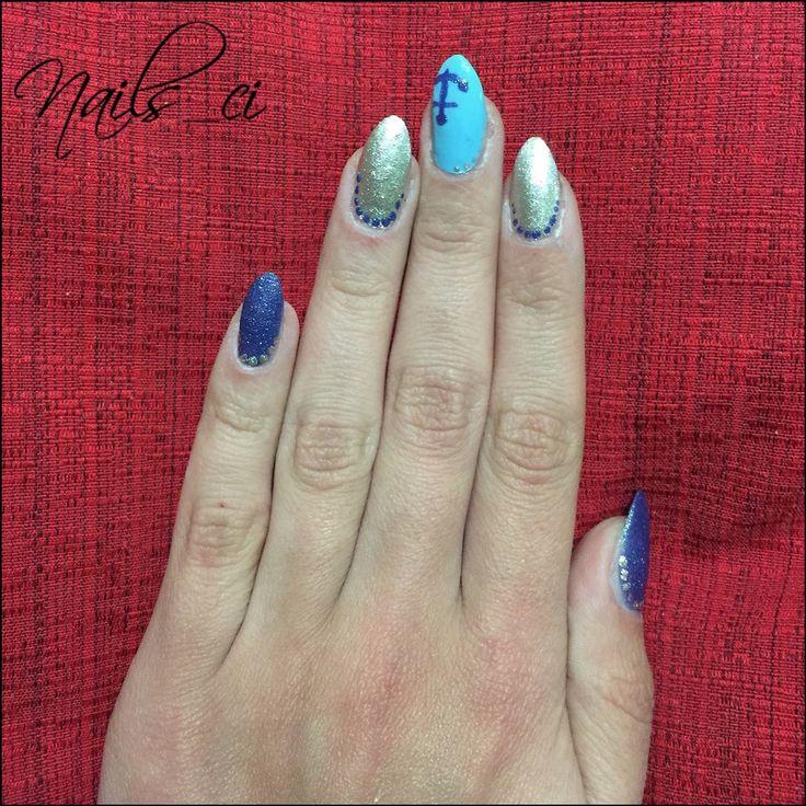 - Unghie Blu, Argento, Azzurro -