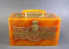Bolsa Vintage de meados do século lucite, design Oriental Wilardy, Anos 50