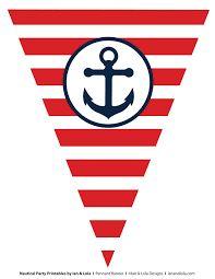 نتيجة بحث الصور عن banderines nauticos para nombres para imprimir
