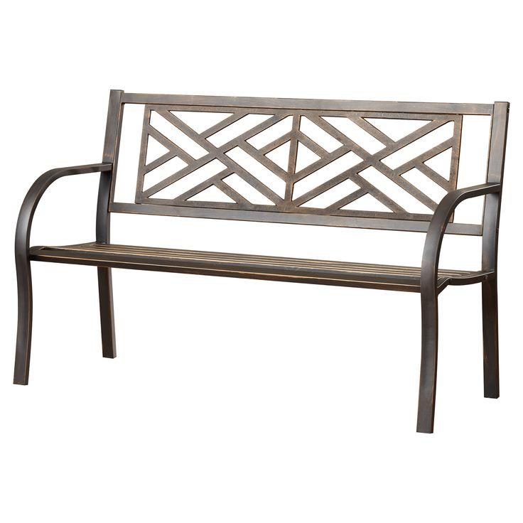 Exceptional Maintenance Free Garden Bench Part - 6: Features: -Maintenance Free. -Steel With Black Powdercoated Finish. Style:  -. Metal Garden BenchesOutdoor ...