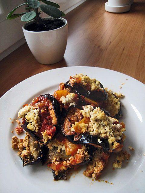 Lilek s rajčaty a todu ricottou | Veganotic