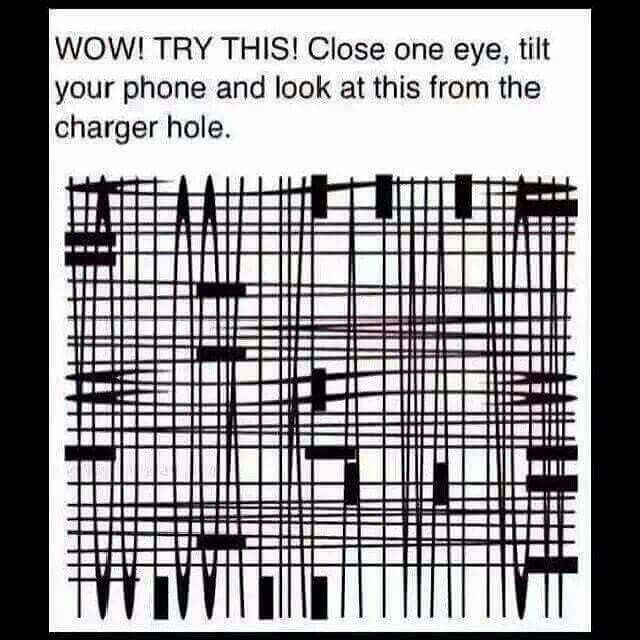 Hint: don't look ll the way in the hole, still look at the screen
