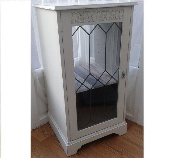 Shabby Beach Chic White Glazed Cabinet  Decoupage by Love2Furnish
