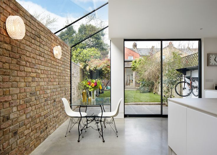 Rise Design Studio has added a glazed extension to the rear of a house in London