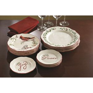 Better Homes And Gardens 12 Piece Dinner Plate Set, Holiday Assorted   4  Each