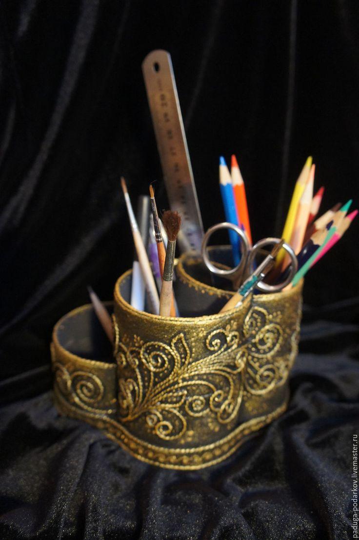 Купить Карандашница из плотного картона. Рисунок Вдохновение. - карандашница, красивый подарок, органайзер, удобный, рисунок