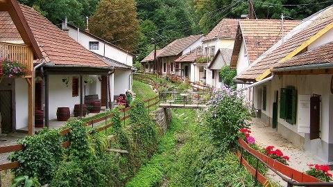 Sátoraljaújhely,Zsolyomkai pincesor, Hungary
