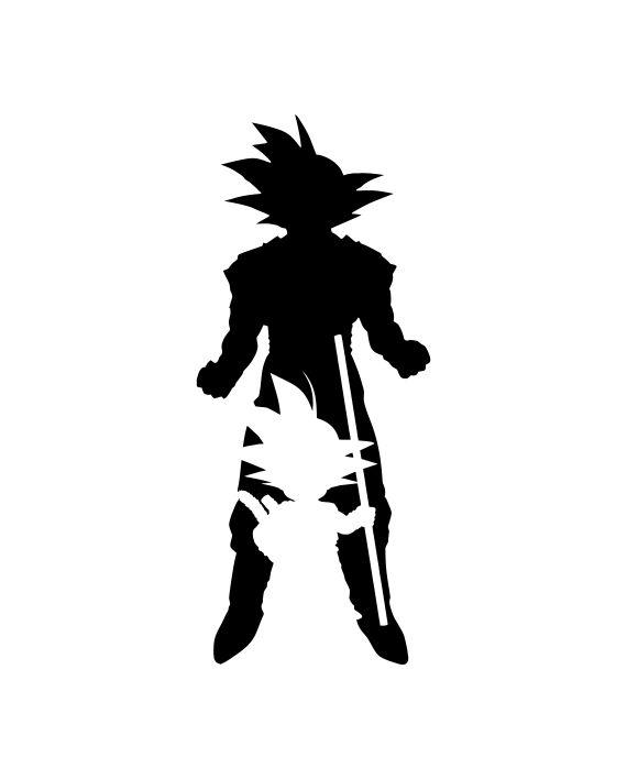 Pegatina Goku Siluetas - Dragon Ball - adhesivosNatos - Visit now for 3D Dragon Ball Z compression shirts now on sale! #dragonball #dbz #dragonballsuper
