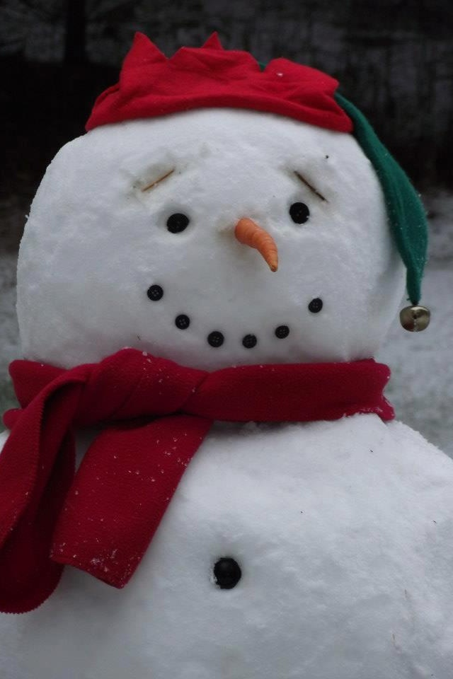 Snowman, I love his eyebrows, so cute