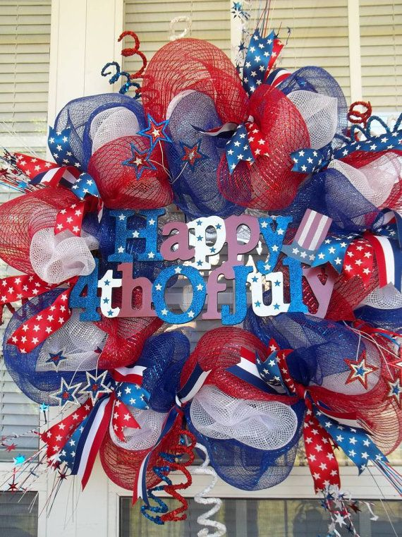 HAPPY 4th of JULY   XL Chic Patriotic Wreath by DecorClassicFlorals, $149.95