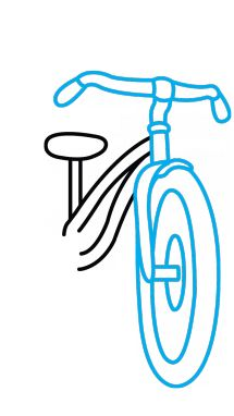 How to Draw a Bicycle for Kids step 3