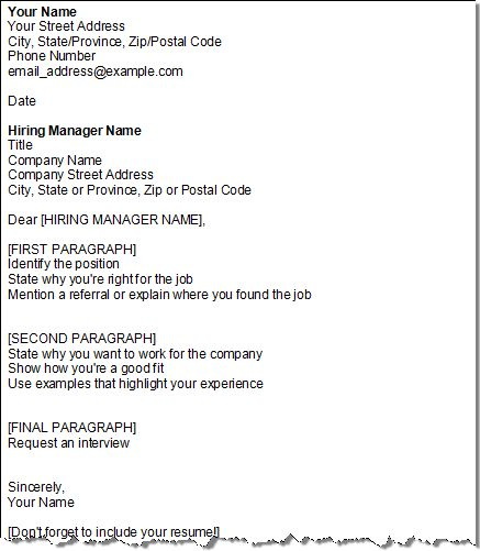 Format For Cover Letter. Get Your Cover Letter Template Four For ...
