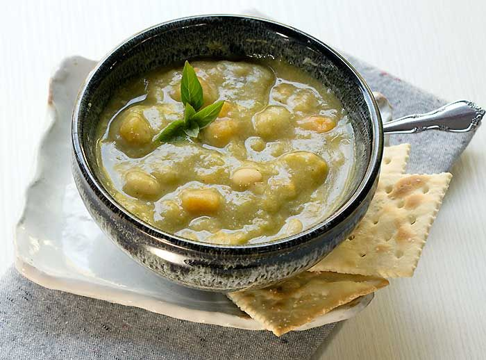 Smoky Vegan Split Pea Soup with Sweet Potatoes and Navy Beans (Instant Pot and Slow Cooker) -EmailFacebookGoogle+InstagramPinterestRSSTwitterFacebookGoogle+InstagramPinterestTwitter