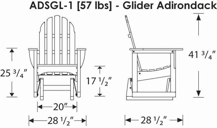 Wood Porch Glider Plans Free | POLYWOOD® Adirondack Style Glider Chair