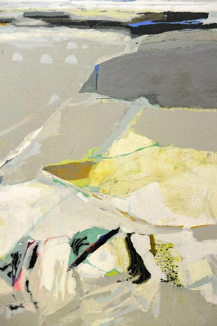Gabriel Godard (b.1933), Paysage plat (1971), oil on canvas.