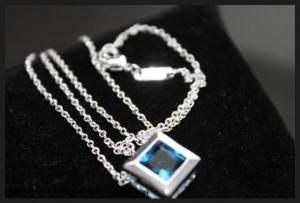 925 Sterling Silver Filled Boxed Pendant Necklace
