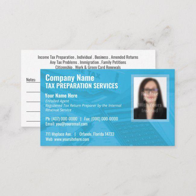 Tax Preparing Preparer Photo Business