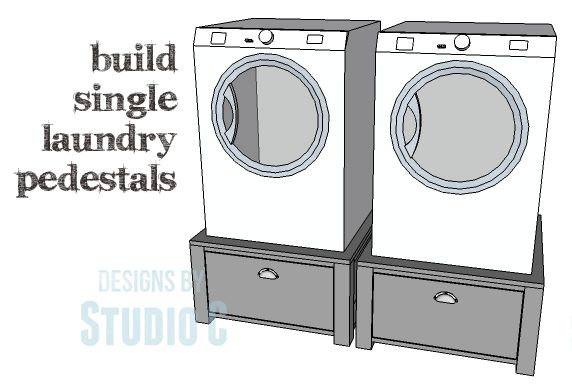 DIY Plans to Build Single Washer and Dryer Pedestals_Copy