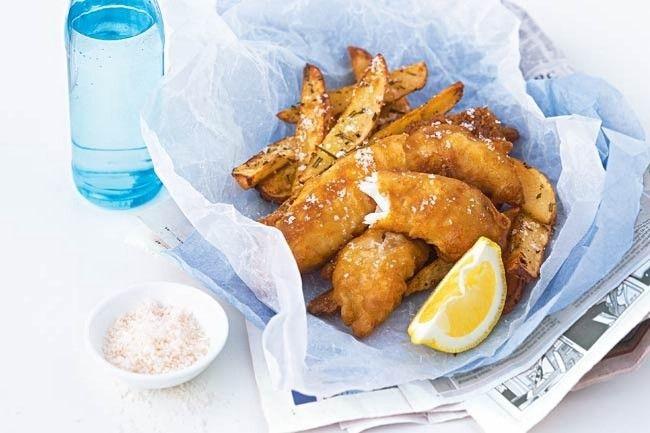Classic Australian recipe  yum Fresh Aussie fish  chips