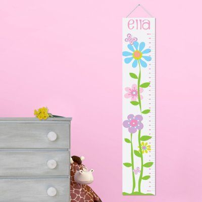 Personalized Blooms Height chart Lots of Kids' Ideas - especially for birthdays www.beau-coup.com