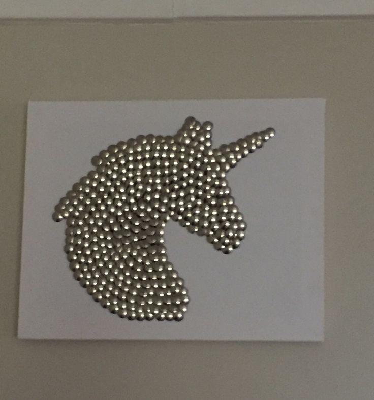 Drawing pin art unicorn