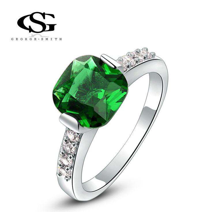Ring met Grote Groene Zirkonia Kristal