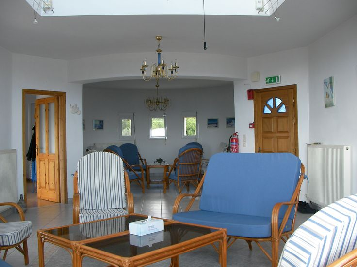 Living room at The Tower House, Kos