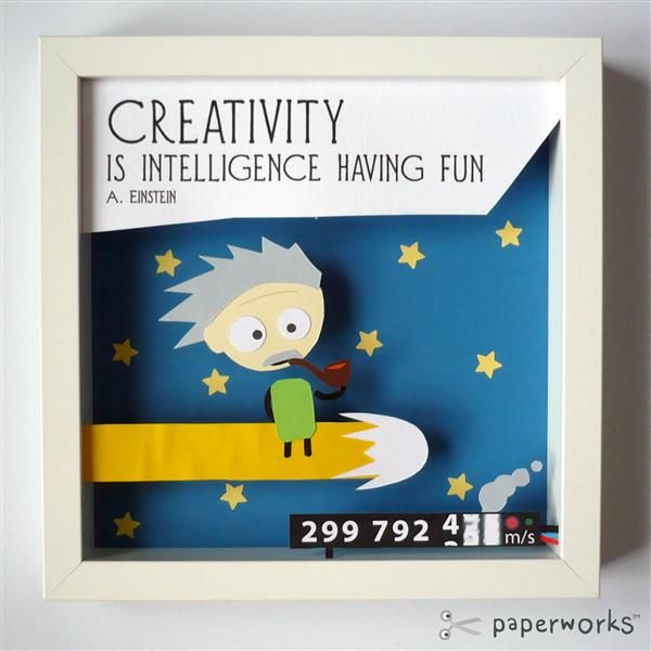 Kreatywność to inteligencja, która się dobrze bawi.    Styl: Bajkowy