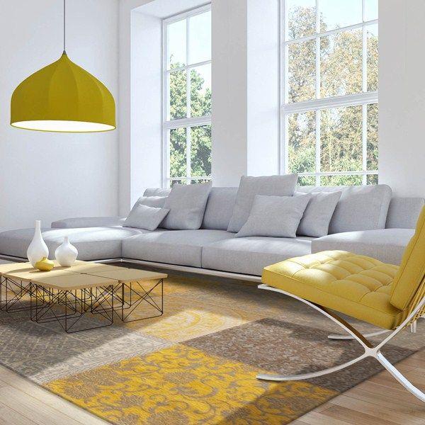 Louis de poortere rugs vintage multi 8084 yellow buy online from the rug seller uk