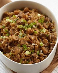 Brown Rice Mushroom Pilaf from Food & Wine. Made this tonight--absolutely delicious. Highly recommended.