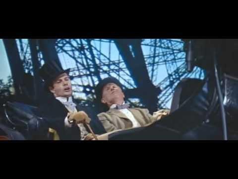 """It's a Bore, Gigi, movie (1958), Maurice Chevalier and Louis Jourdan."