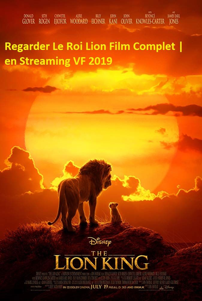 Le Roi Lion Film Complet En Francais Streaming Vf Hd Lion King Movie Lion King Original Lion King Remake