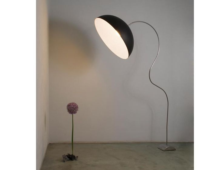 MEZZA LUNA piantana lamp: Careful attention has been paid to details and the materials are chosen specifically, such as Nebulite , which creates an evocative and distinctive refraction of light, metal alloy, steel and resin. http://shop.classicdesignitalia.com/en/cdi-collection-mezza-luna-piantana