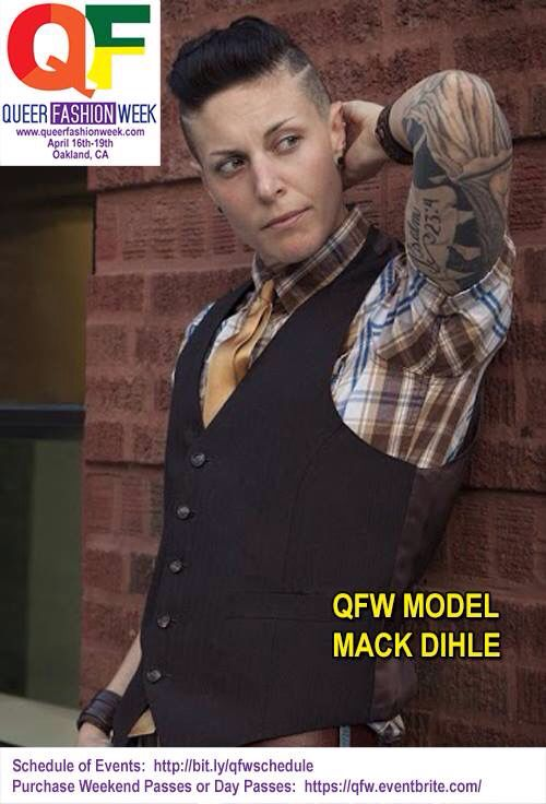 Queer Fashion Week Model Mack Dihle. High fashion Androgynous Model. www.mackdihle.com