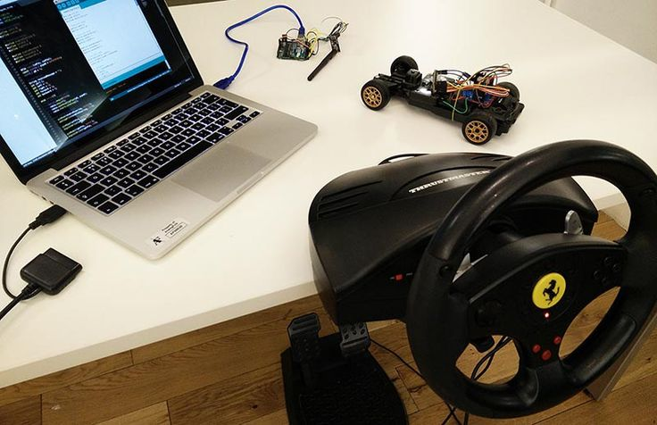Turn a USB racing wheel into an RC car controller with this JavaScript hack.
