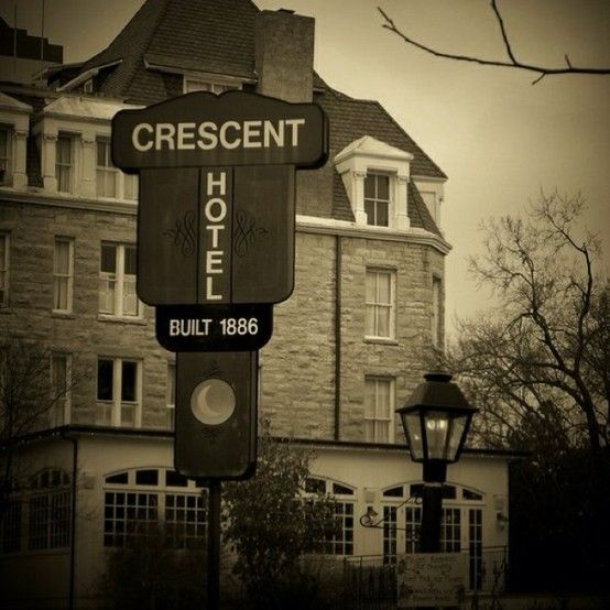 The Crescent Hotel is supposedly one of the most haunted hotels in America. This photo was taken in 1886.