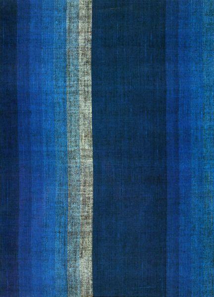 Patternatic: U201c Graduating Shaded Stripe Textile, Plain Weave Cotton; Japan;  End Of