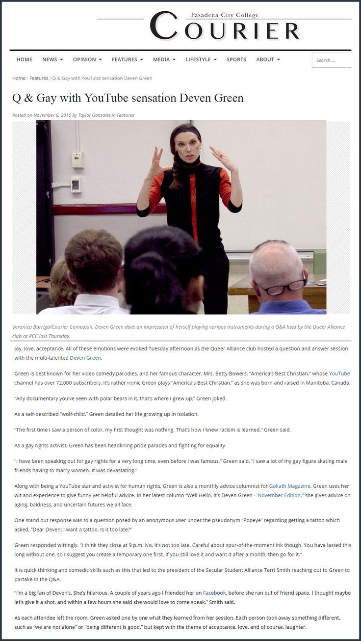 Lecturing at Pasadena College.