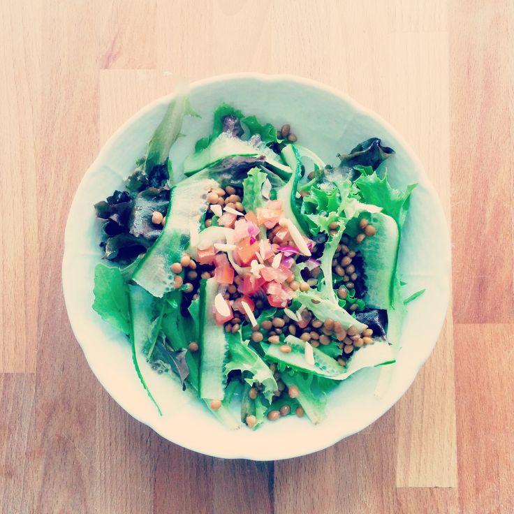 Salade de lentilles froides ! >>http://www.pandappetit.fr/recettes/saladelentilles.html
