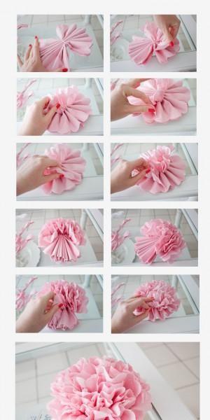 bloem van crêpe papier