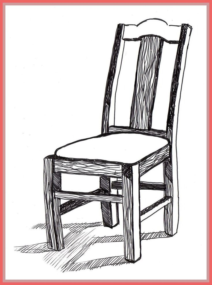 90 reference of 3d chair drawing easy in 2020 chair