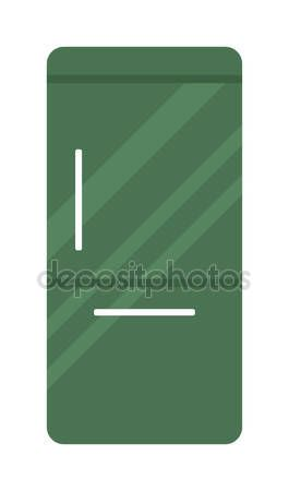 Скачать - Modern refrigerator kitchen appliance cold home freezer electric flat vector illustration. — стоковая иллюстрация #105659386